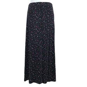 Briggs Vintage 90's Floral Long Faux Button Skirt